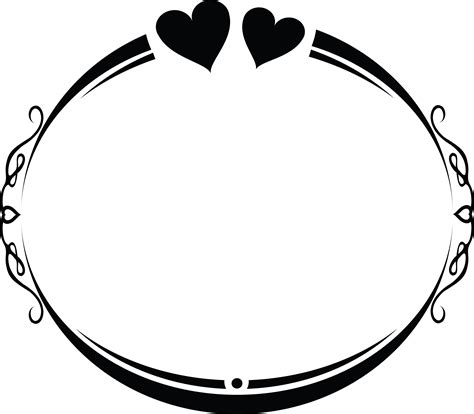 Free svg designs | download free svg files for your own. Free Clipart of an oval wedding frame design with love ...