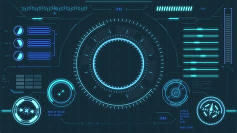 futuristic user interface with hud and infographic