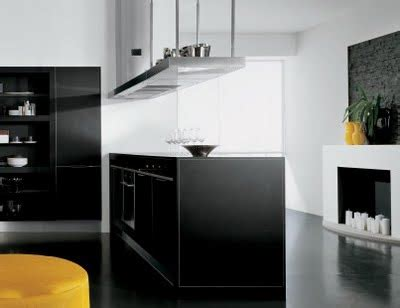 como decorar una cocina de color blanco  negro