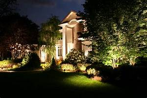Led light design enchanting low voltage landscape
