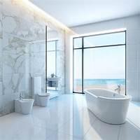 marble tile bathroom 25 White Bathroom Ideas (Design Pictures) - Designing Idea