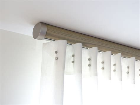 flush ceiling fix pole modern curtain poles by