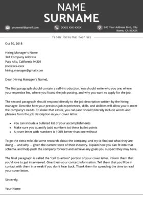Is Resume Genius Free by Professional Cover Letter Templates Free To
