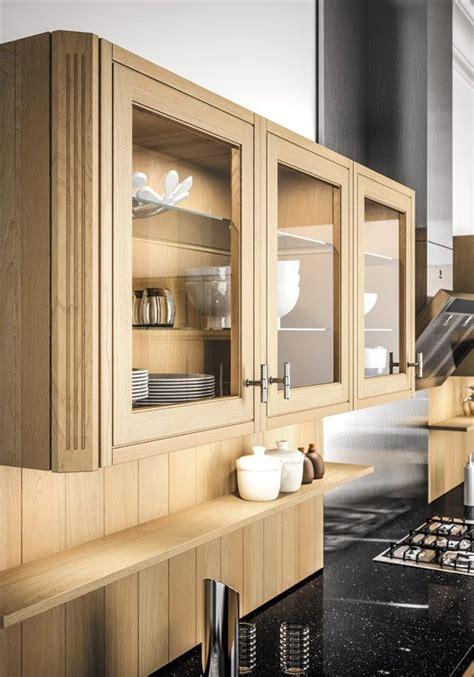armoire cuisine en bois porte vitrée sagne cuisines