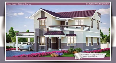 Kerala House Plans With Estimate For A 2900 Sqft Home Design