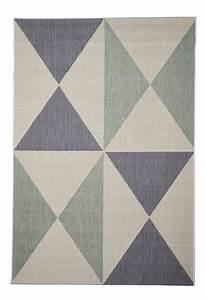 Teppich Blau Grün : in und outdoor teppich balkon wohnzimmer geo muster blau gr n beige 135 x 190 cm ~ Yasmunasinghe.com Haus und Dekorationen