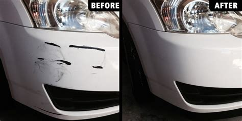 Before & After Pictures Of Auto Bumper Paint Scratch