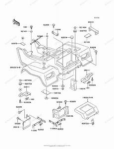 Kawasaki Atv 1995 Oem Parts Diagram For Rear Fender S