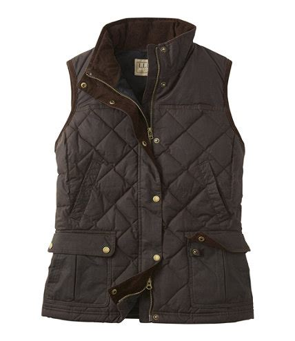 womens llbean upcountry waxed cotton  vest