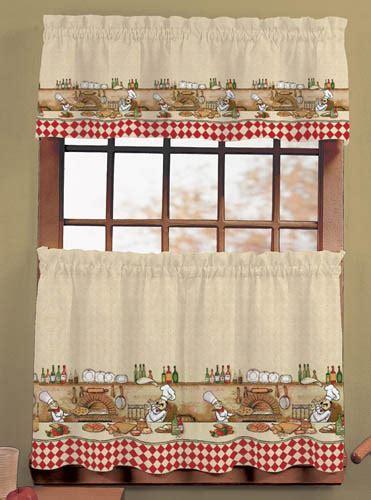 Italian Fat Chef Window Curtain Set Kitchen Valance