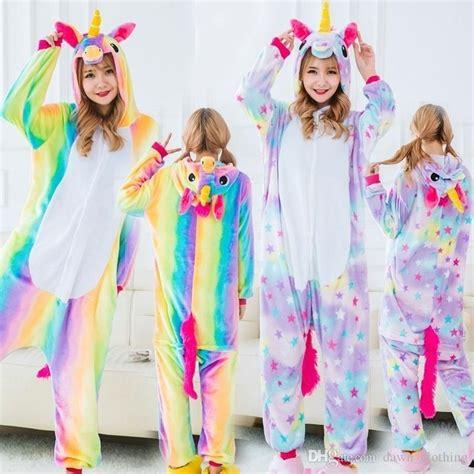 adult child rainbow unicorn onesie pyjamas