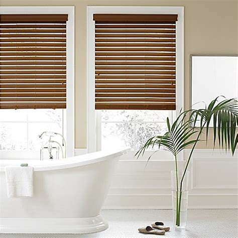 real simple blinds real simple 174 2 inch faux wood blind www bedbathandbeyond ca