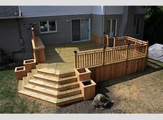 CEDAR&WOOD PATIO DECK Modern Deck montreal by