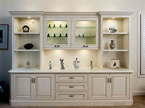 Painted and glazed display cabinet traditional living for Display cabinets living room