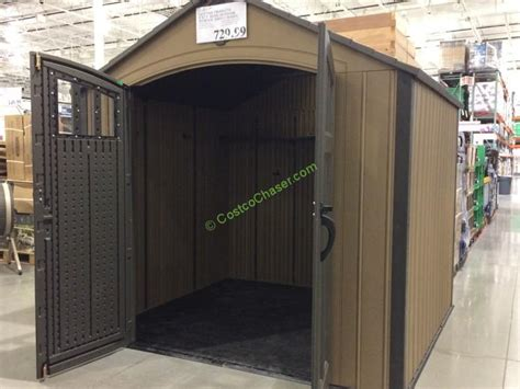 costco storage shed lifetime products 8 x 7 5 resin outdoor storage shed