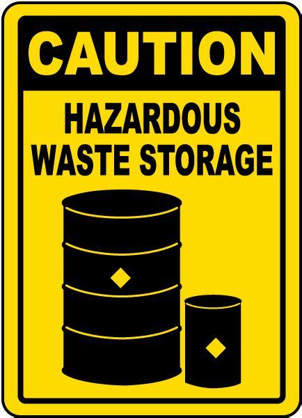 Caution Hazardous Waste Storage Sign G4813  By Safetysigncom