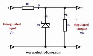 Circuit Diagram Zener Diode Voltage Regulator