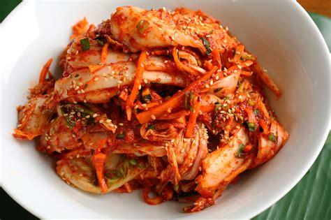 food photo fresh kimchi with barley rice for my