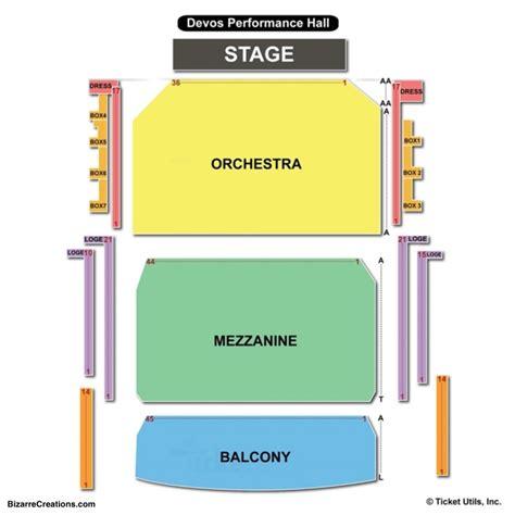 devos performance hall seating chart seating charts