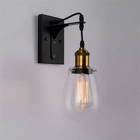 wall sconces and matching chandeliers industrial interior wall light strung1