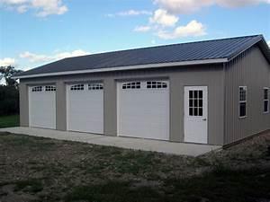 beautiful three car garage kits 9 garage pole barn kit 30 With 24x40 pole barn