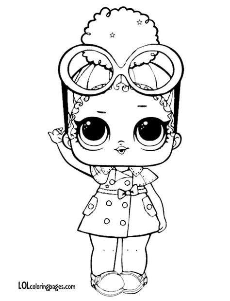 boss queen lol doll coloring page lol