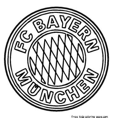 printable bayern munich logo soccer coloring pages