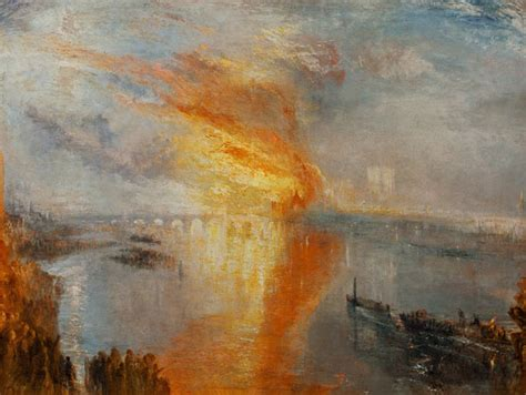 incendio alla camera dei lord  dei comuni olio su tela