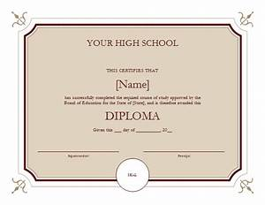 high school diploma template cyberuse With high school diploma certificate fancy design templates