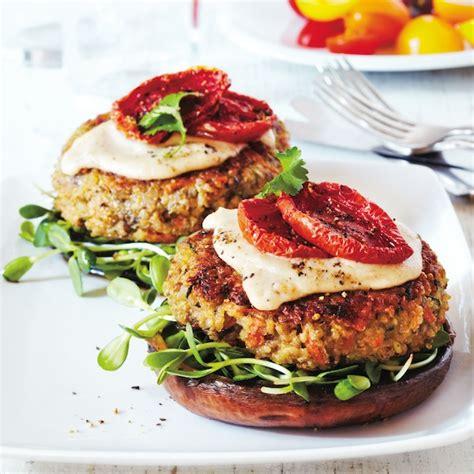 veggie burger recipes quinoa veggie burger recipe chatelaine com