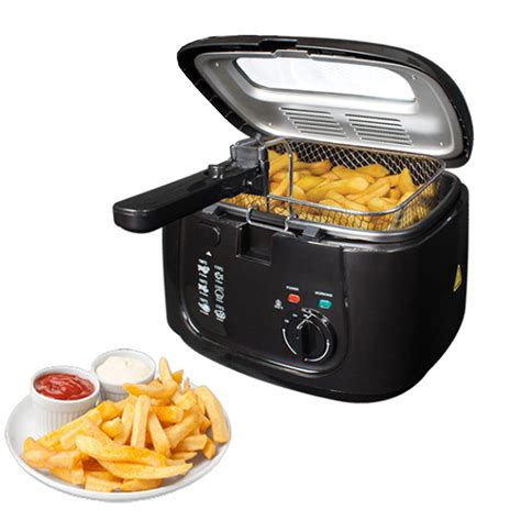 fryer chip deep electric fat pan basket non handle stick safe 5l window clean easy cooker brand fryers oil cook