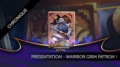 hearthstone decks warrior grim patron analyse de deck warrior grim patron
