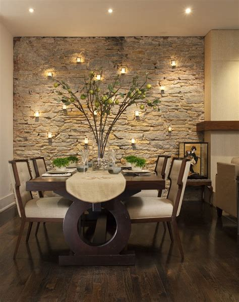 dining room wall ideas accent wall ideas for dining room dining room contemporary with dark wood floor gray patterned