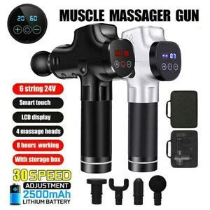 Massage Gun 30 Speeds LED Percussion Muscle Body Therapy