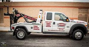 Priority towing truck graphic decals and lettering vinyl for Tow truck lettering designs