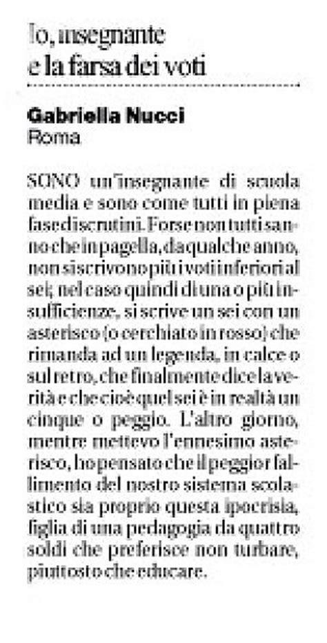 Lettere Al Direttore Di Libero by E Di Una Insegnante Romana La Lettera Al Giornale Pi 249