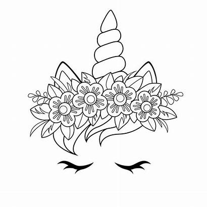 Unicorn Clipart Face Blumen Illustrations Vectors Geraten