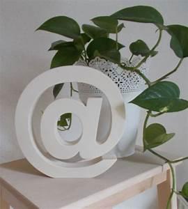 Lettre Decorative A Poser : arobase poser en bois lettre d corative en bois ~ Dailycaller-alerts.com Idées de Décoration