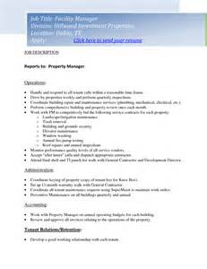 management duties on resume 11 property manager description resume riez sle resumes riez sle resumes