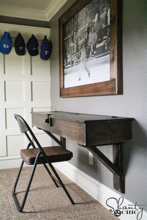 how to build a desk diy floating desk with storage shanty 2 chic