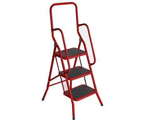 3 Step Safety Ladder Buttermilk Foldable Non Slip Tread