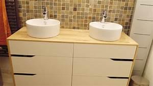 Ikea Meuble De Salle De Bain : meuble salle de bain double vasque ~ Teatrodelosmanantiales.com Idées de Décoration