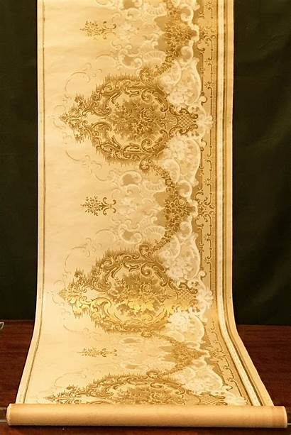 Gilt Frieze Embossed Antique Scrolling Roll Borders