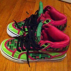 off Draven Shoes Draven Neon Green and Neon Pink