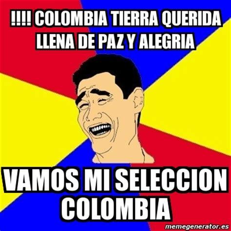 Colombia Meme - meme yao ming colombia tierra querida llena de paz y alegria vamos mi seleccion colombia