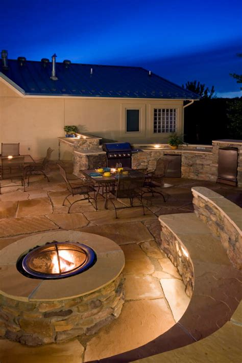built in pit 42 backyard and patio fire pit ideas