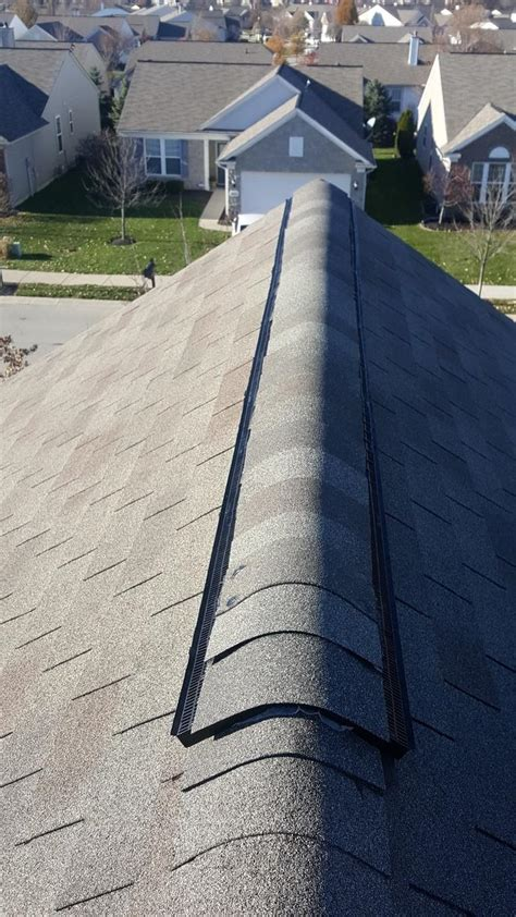 roof replacement  ridge vent installed  fishers