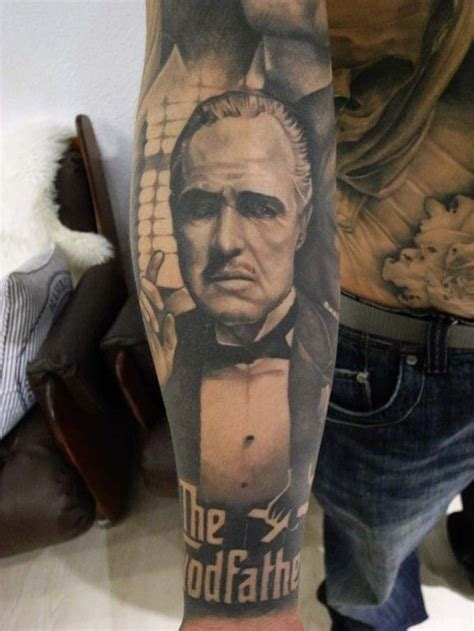 tattoos inspired  movies art tattoos godfather