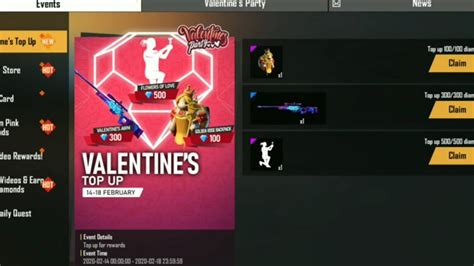 How to collect Valentine day event in free fire game 2020