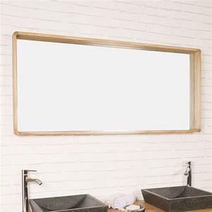 miroir salle de bain miroir rectangulaire en teck samba With miroir salle de bain 140 cm